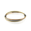 14K Tricolor dc bangle bracelet