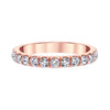 14K ROSE GOLD DIAMOND WEDDING/ANNIVERSARY BAND