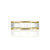 14K YELLOW/WHITE GOLD POLISH/FLAT 6.6MM WEDDING BAND SIZE 9
