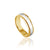 14K YELLOW/WHITE GOLD POLISH/FLAT 6.6MM WEDDING BAND