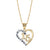 "14K Two Tone ""Quinceanera"" Heart Necklace"