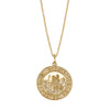 14K Yellow Gold Saint Christopher Necklace