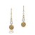 14K Two tone fancy dangle earrings