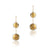 14K Two tone dangle earrings