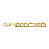 14K Yellow Gold Classical 10.4mm Figaro Chain