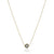 14K Two tone circle necklace