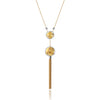 14K Two tone long necklace
