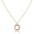 14K Tricolor circle pendant necklace