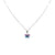 14K White Gold Butterfly Pendant Necklace With Blue Topaz And Amethyst