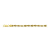 14K Yellow Gold 3mm Diamond Cut Rope Chain