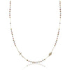 14K Tricolor rosary necklace