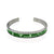 Stainless Steel Green Watch Speedometer Bracelet