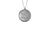 925 STERLING SILVER 12MM ROUND STAR OF DAVID CHAI MEDAL