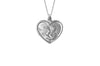 925 STERLING SILVER 13MM HEART SHAPE CHERUB MEDAL