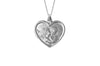 925 STERLING SILVER 15MM HEART SHAPE CHERUB MEDAL