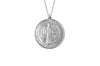 925 STERLING SILVER 12MM ROUND ST. BENEDICT MEDAL
