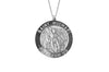 925 STERLING SILVER 18MM ROUND ST. MICHAEL MEDAL