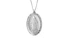 925 STERLING SILVER 11x16MM OVAL MARY MEDAL