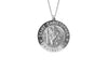 925 STERLING SILVER 12MM ROUND ST. CHRISTOPHER MEDAL