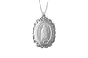 925 STERLING SILVER 17x21MM OVAL MARY MEDAL