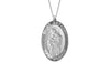 925 STERLING SILVER 15x22MM OVAL ST. ANTHONY MEDAL