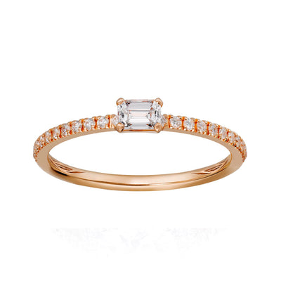 14K Rose Gold Diamond Fashion Ring