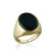 18K Yellow gold ring with center black onyx