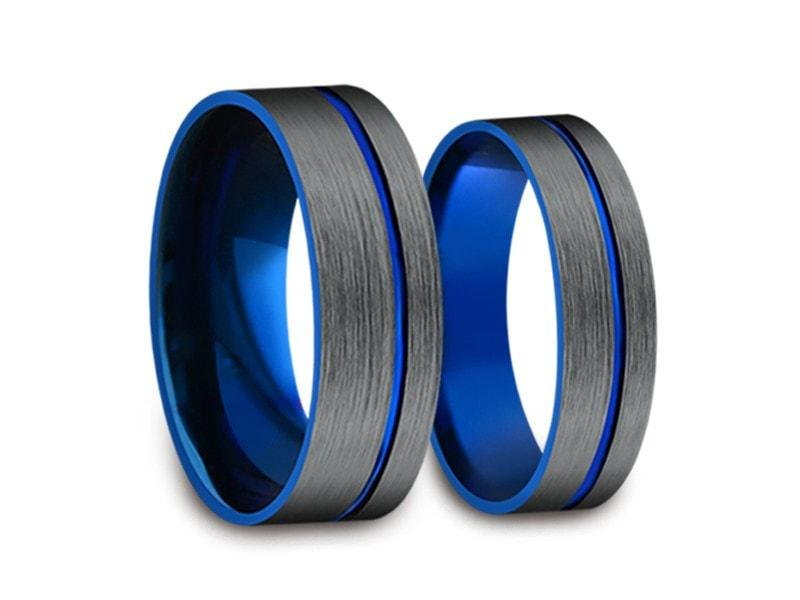 Tungsten Matching Wedding Band Set   Matching Bands   His/Hers   Engagement  Ring Set