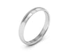 3MM 14K WHITE GOLD COMFORT FIT DOMED WEDDING BAND