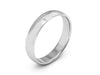 4MM 14K WHITE GOLD COMFORT FIT DOMED WEDDING BAND