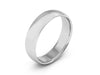 5MM 14K WHITE GOLD COMFORT FIT DOMED WEDDING BAND