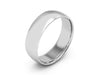 6MM 14K WHITE GOLD COMFORT FIT DOMED WEDDING BAND