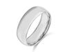 8MM 14K WHITE GOLD COMFORT FIT DOMED WEDDING BAND