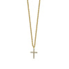 14K Yellow Gold Diamond Tiny Cross Necklace