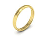 3MM 14K YELLOW GOLD COMFORT FIT DOMED WEDDING BAND