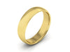 5MM 14K YELLOW GOLD COMFORT FIT DOMED WEDDING BAND