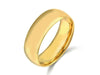 8MM 14K YELLOW GOLD COMFORT FIT DOMED WEDDING BAND