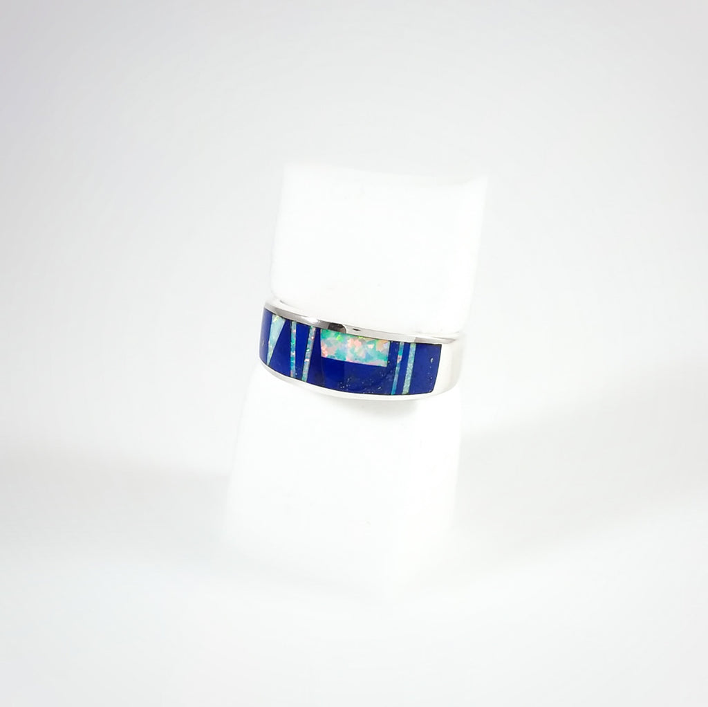 Lapis/Opal Inlay Ring