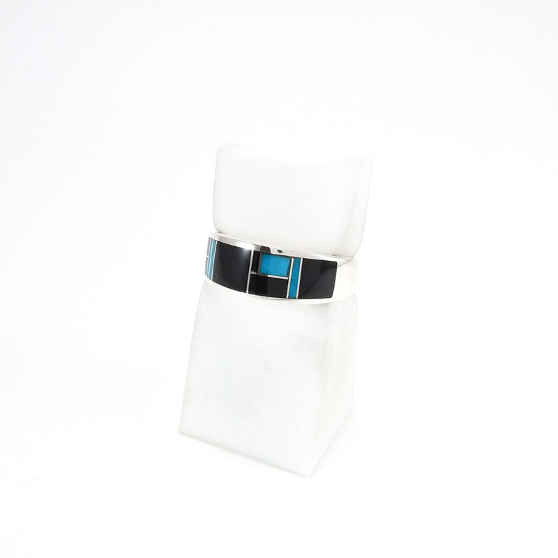 Jet/Turquoise Inlay Ring