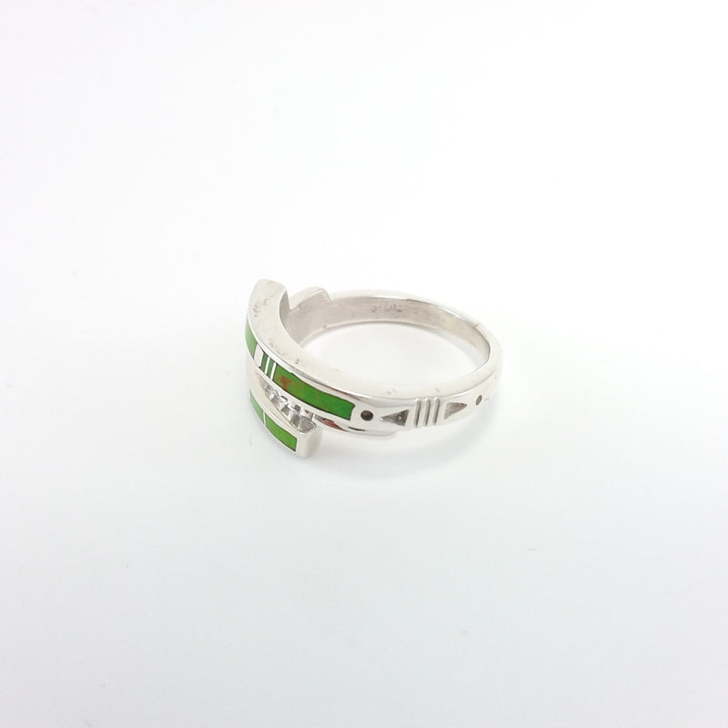 Gaspeite Inlay Ring