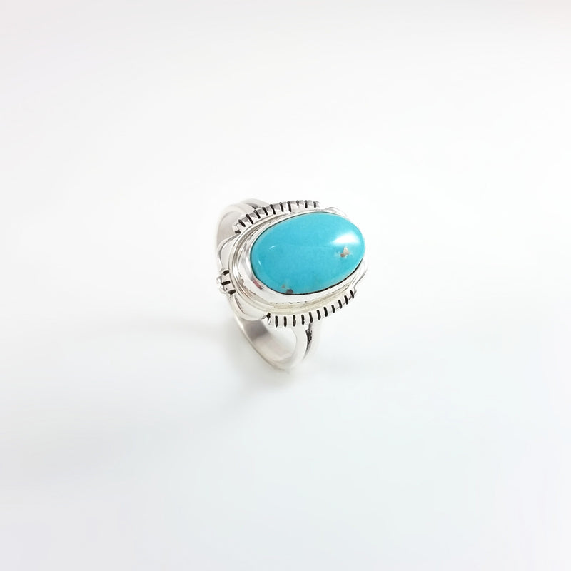 Turquoise Ring by Larry Yazzie