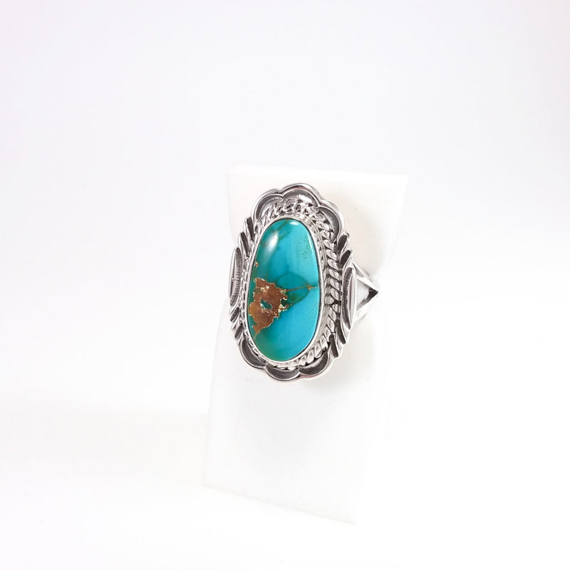 V. Chee, Virgil Chee, Navajo, Navajo ring, Turquoise, Blue Turquoise, Native American, Indian Jewelry