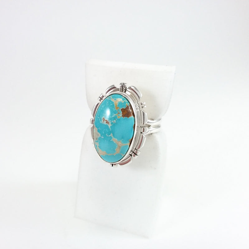 Blue Turquoise Ring by Robert Concho