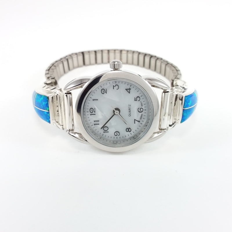 Navajo opal sterling silver watch band.