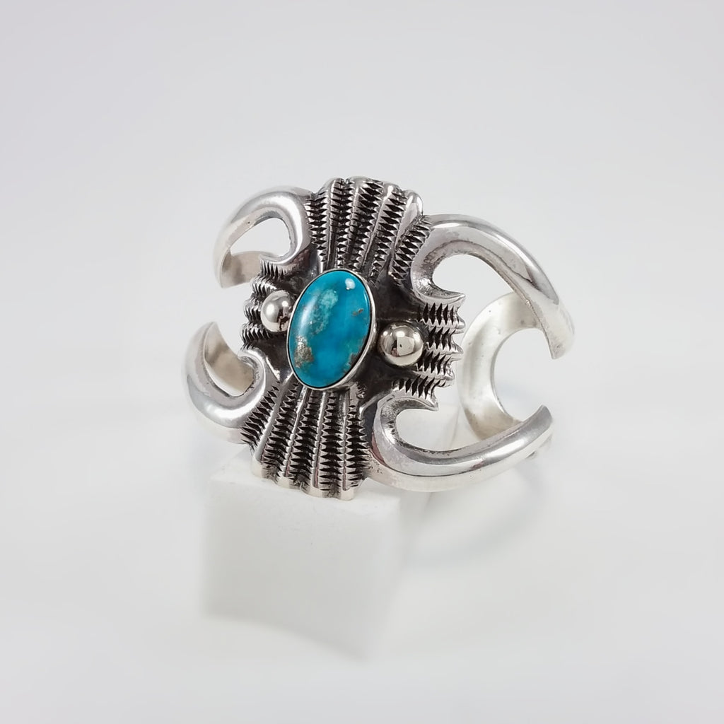 Turquoise/Silver Stamp Bracelet