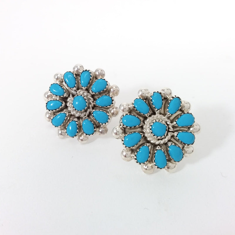 Martha Toshauma turquoise sterling silver earrings.