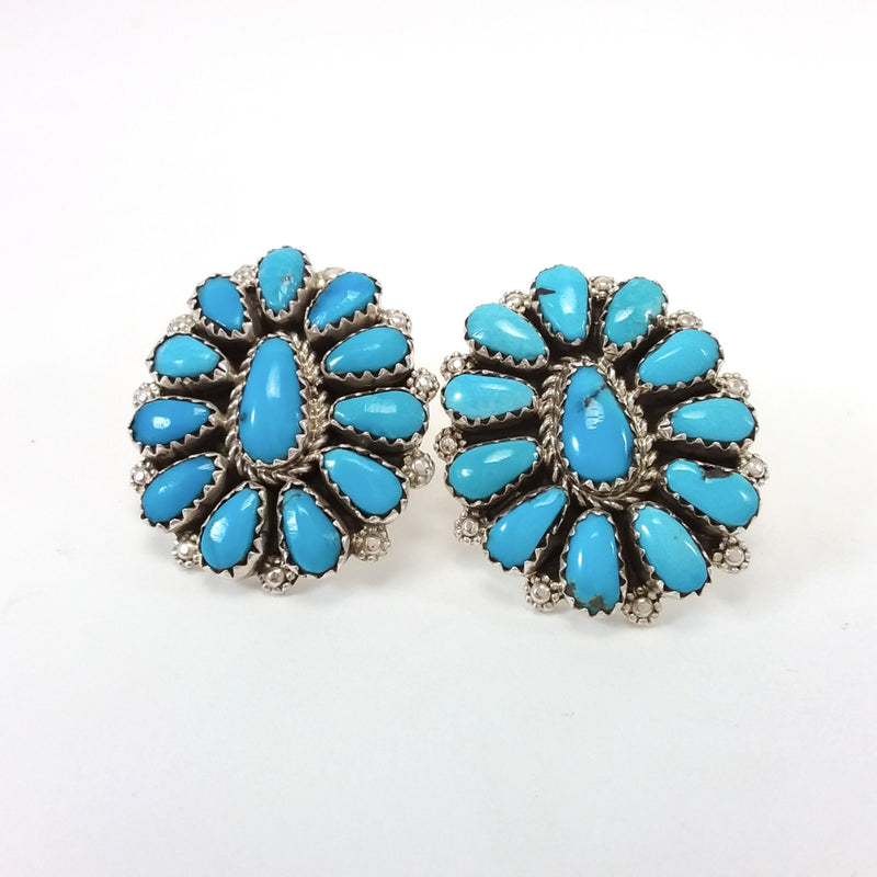 Eunice Wilson turquoise sterling silver earrings.