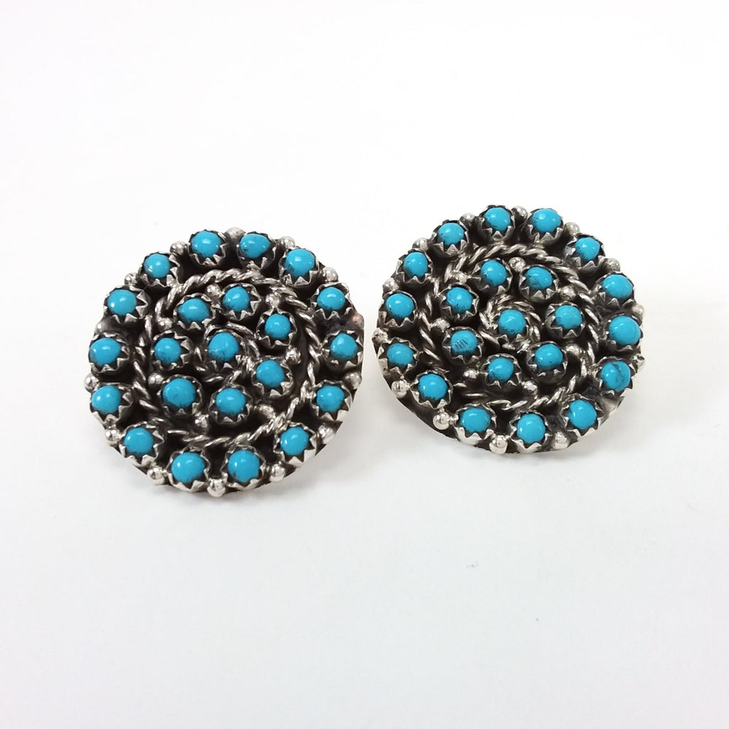 Ray Huoel turquoise sterling silver earrings.