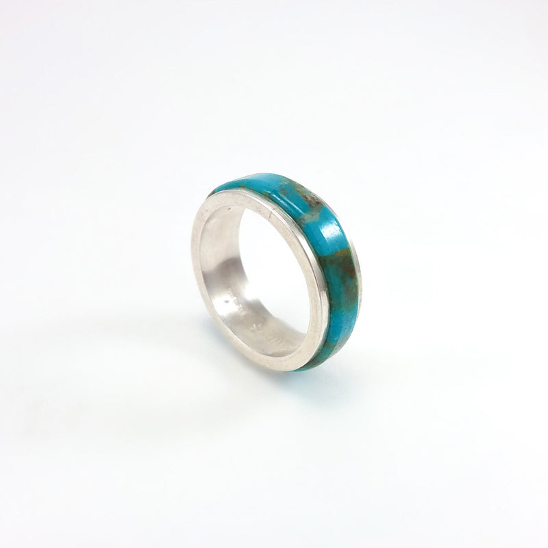Turqouise Band Ring by Melvin Francis