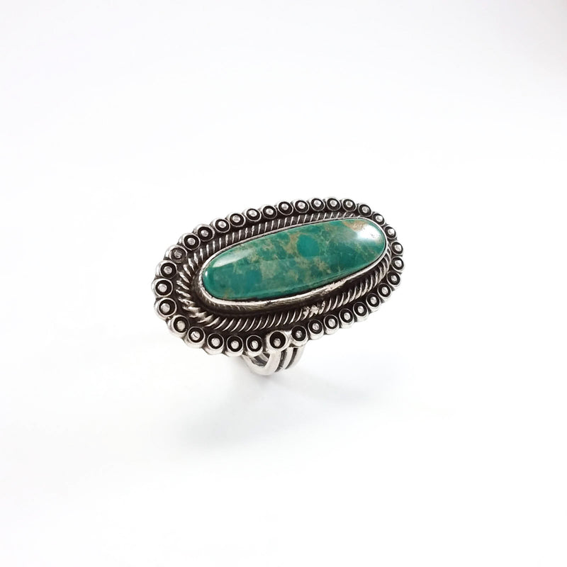 Green Turquoise Ring by Leon Martinez